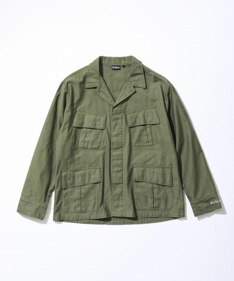 バックサテンフィールドシャツ